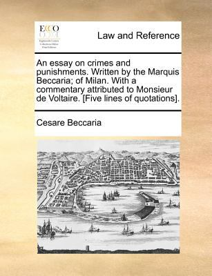 essays on crimes and punishments-beccaria