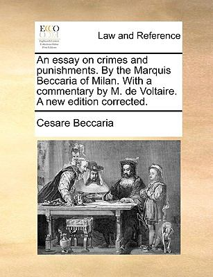essay on crimes and punishments by cesare beccaria