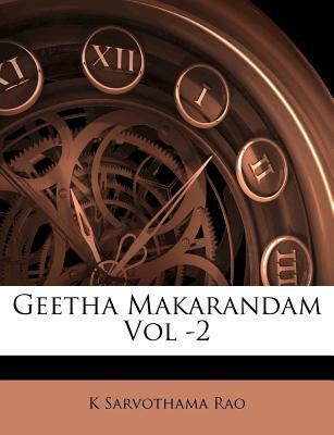 Geetha Makarandam Vol -2 9781178748321