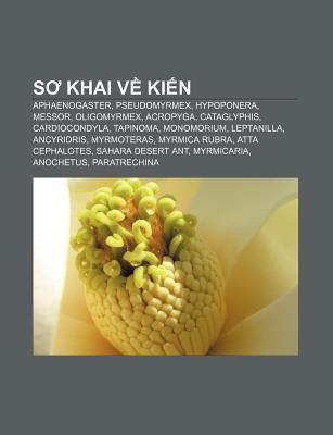 S Khai V KI N: Aphaenogaster, Pseudomyrmex, Hypoponera, Messor