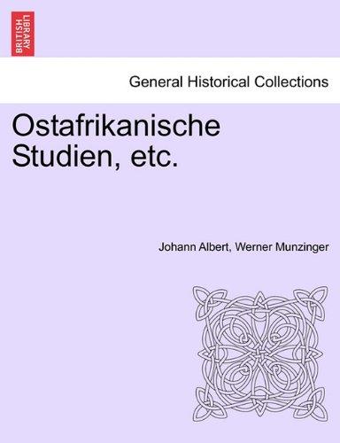 Ostafrikanische Studien, Etc. 9781241314644