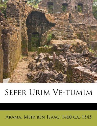 Sefer Urim Ve-Tumim 9781246002294