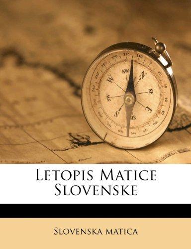 Letopis Matice Slovenske 9781248349526