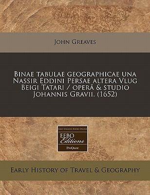 Binae Tabulae Geographicae Una Nassir Eddini Persae Altera Vlug Beigi Tatari / Opera & Studio Johannis Gravii. (1652)