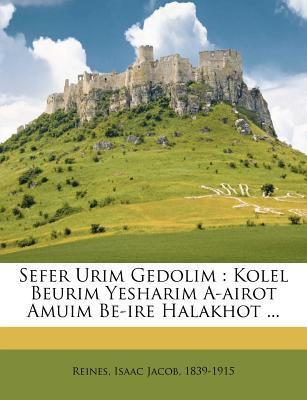 Sefer Urim Gedolim: Kolel Beurim Yesharim A-Airot Amuim Be-Ire Halakhot ... 9781246002089