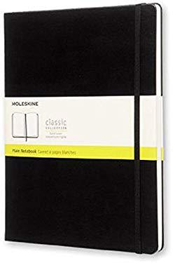 Moleskine Classic Notebook, Extra Large, Plain, Black, Hard Cover (7.5 x 10)
