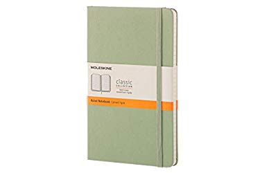 Moleskine Classic Notebook, Large, Ruled, Willow Green, Hard Cover (5 x 8.25)