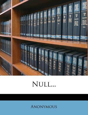 Null... 9781276662475