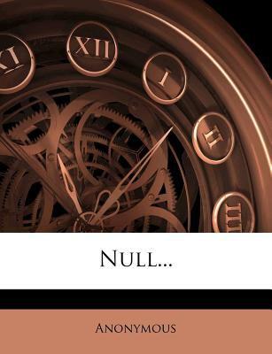 Null... 9781274598578