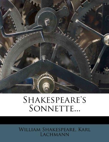 Shakespeare's Sonnette... 9781276579209