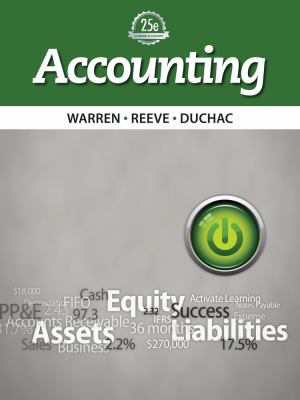 Working Papers, Chapter 1-17 for Warren/Reeve/Duchac's Accounting, 25th and Financial Accounting, 13th 9781285073095