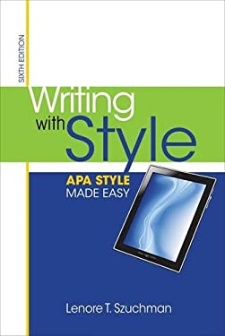 Writing with Style: APA Style Made Easy 9781285077062