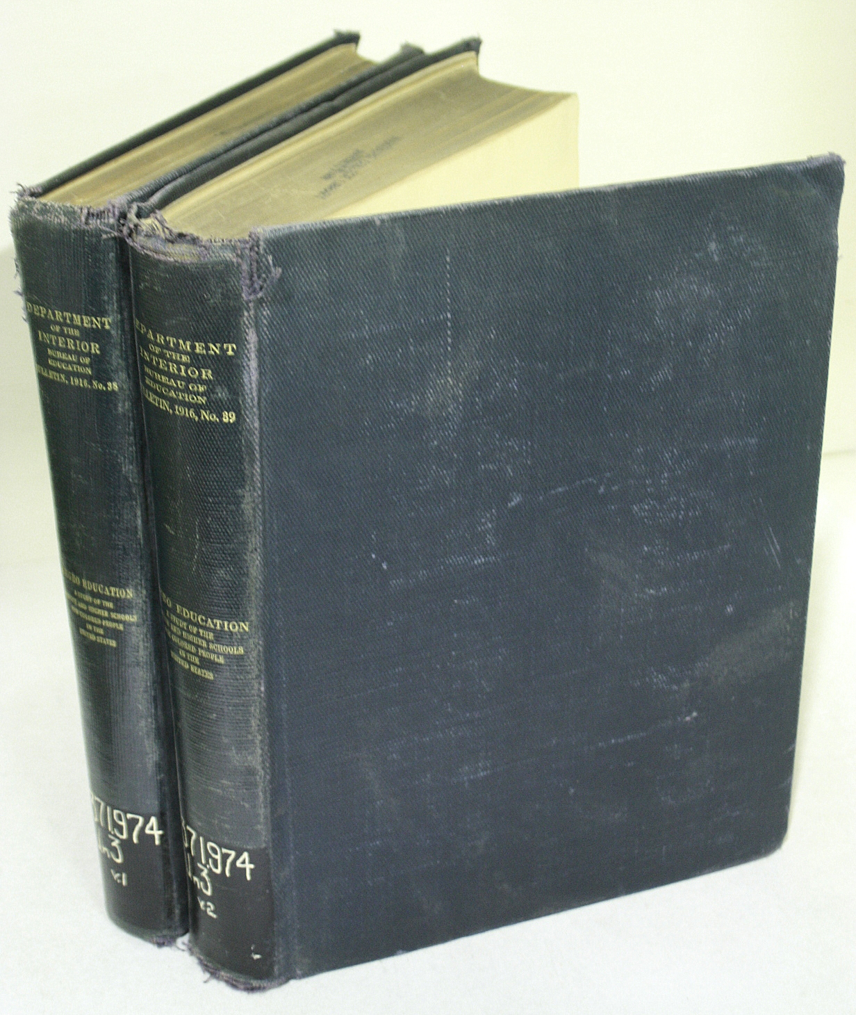 Negro Education.  A Study of the Private and Higher Schools for Colored People in the United States.  Volumes I and II BWB13033458