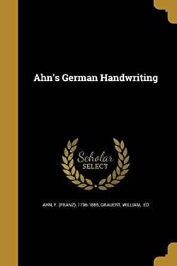 Ahn's German Handwriting