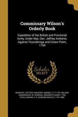Commissary Wilson's Orderly Book