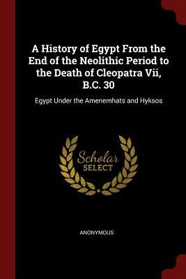 A History of Egypt From the End of the Neolithic Period to the Death of Cleopatra Vii, B.C. 30: Egypt Under the Amenemhats and Hyksos