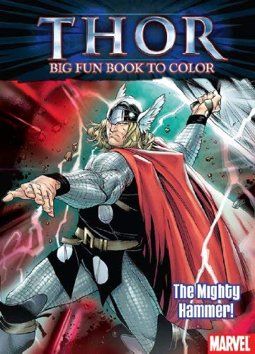 Thor: The Might Hammer Big Best Book to Color with Stickers 9781403764188