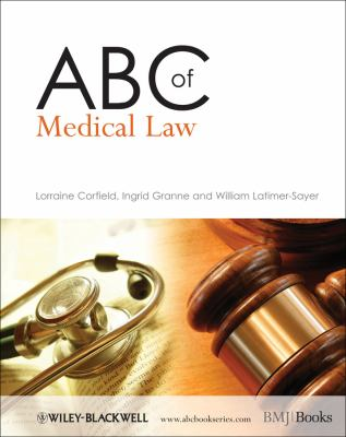 ABC of Medical Law 9781405176286
