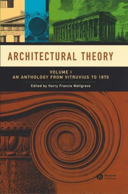An Anthology from Vitruvius to 1870 9781405102582