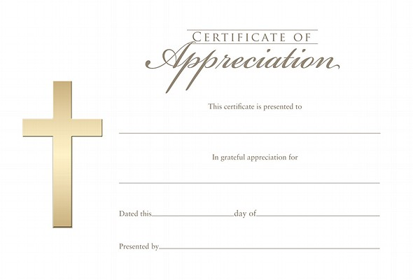 Certificate of Appreciation 6pk by Broadman Church ...