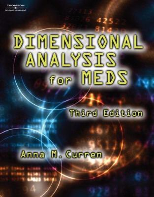 Dimensional Analysis for Meds 9781401878016