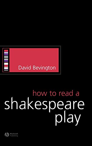How to Read a Shakespeare Play 9781405113953