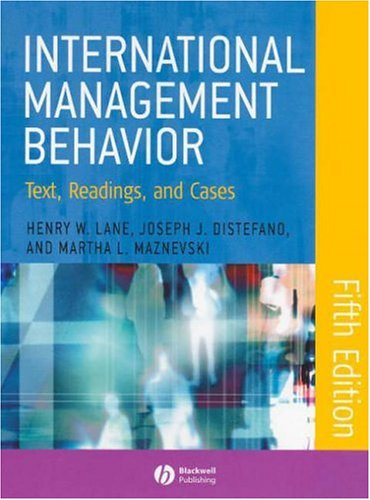International Management Behavior: Text, Readings, and Cases 9781405126717