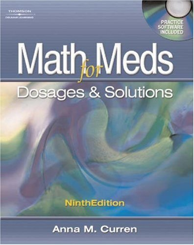 Math for Meds: Dosage and Solutions 9781401831226