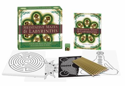 Meditative Mazes & Labyrinths: Color and Trace the Paths to a Calm Mind & Spirit [With Book(s) and 10 Colored Pencils and Decorative Pencil Sharpener 9781402765292