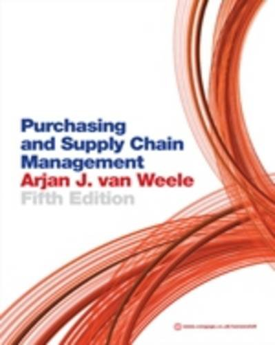 Purchasing and Supply Chain Management: Analysis, Strategy, Planning and Practice 9781408018965