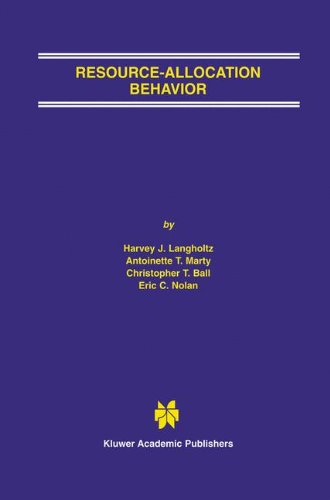 Resource-Allocation Behavior 9781402072277