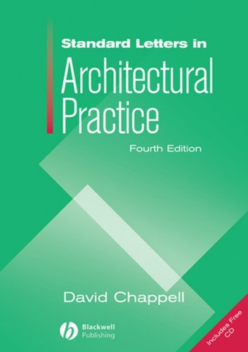 Standard Letters in Architectural Practice [With CDROM] 9781405179652