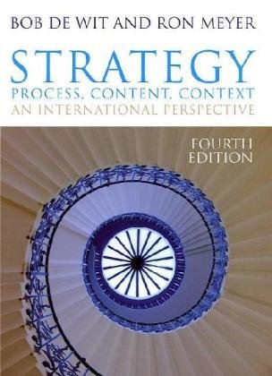 Strategy: Process, Content, Context: An International Perspective 9781408019023