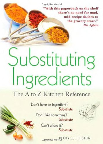 Substituting Ingredients: The A to Z Kitchen Reference 9781402239243