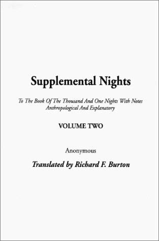 Supplemental Nights - Burton, Richard Francis
