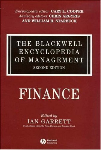 The Blackwell Encyclopedia of Management, Finance 9781405118262