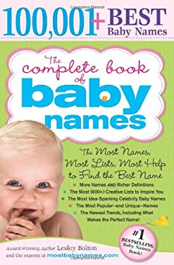 The Complete Book of Baby Names: The Most Names, Most Lists, Most Help to Find the Best Name 9781402224553