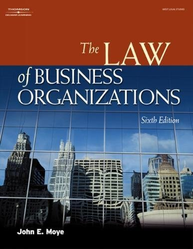 The Law of Business Organizations 9781401820190