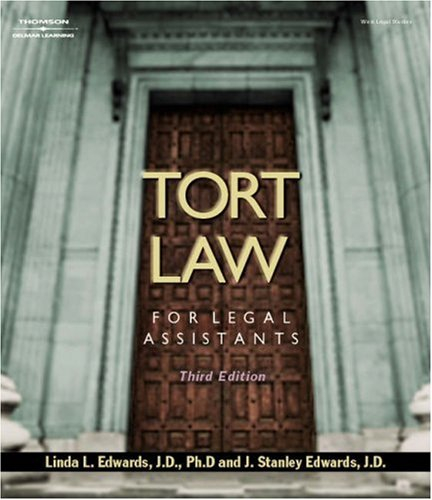 Tort Law for Legal Assistants 9781401812744