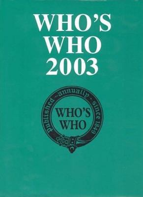 Who's Who 2003, 155th Edition 9781403962492