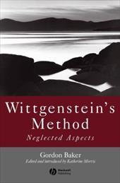 Wittgenstein's Method: Neglected Aspects 6096664