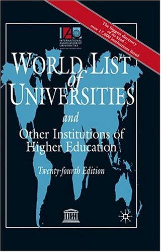 World List of Universities, 24th Edition: And Other Institutions of Higher Education 9781403906878