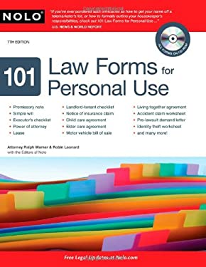 101 Law Forms for Personal Use [With CDROM] 9781413310665