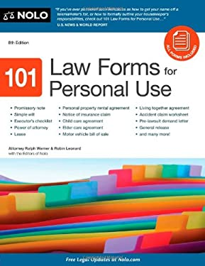 101 Law Forms for Personal Use [With CDROM]