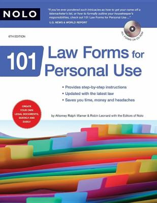 101 Law Forms for Personal Use [With CDROM] 9781413307122