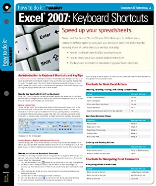 Excel 2007 Keyboard Shortcuts (Quamut) 9781411407572