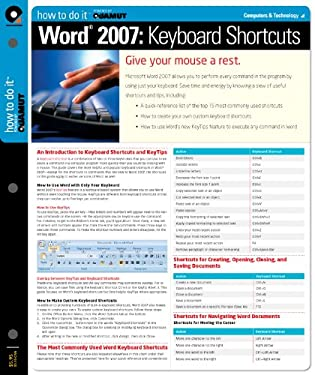 Word 2007 Keyboard Shortcuts (Quamut) 9781411407596