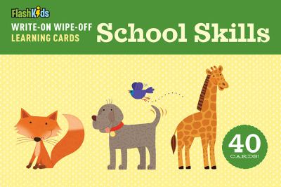 Write-On Wipe-Off Learning Cards: School Skills 9781411463424