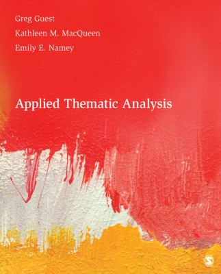 Applied Thematic Analysis 9781412971676