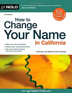How to Change Your Name in California [With CDROM] 9781413310948